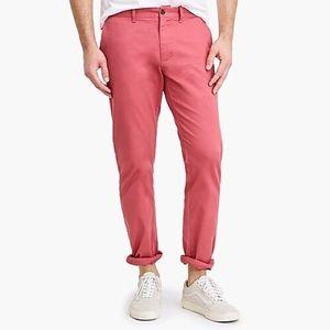 Men's J Crew Slim Fit Khaki Pant Dusty Red 32x34